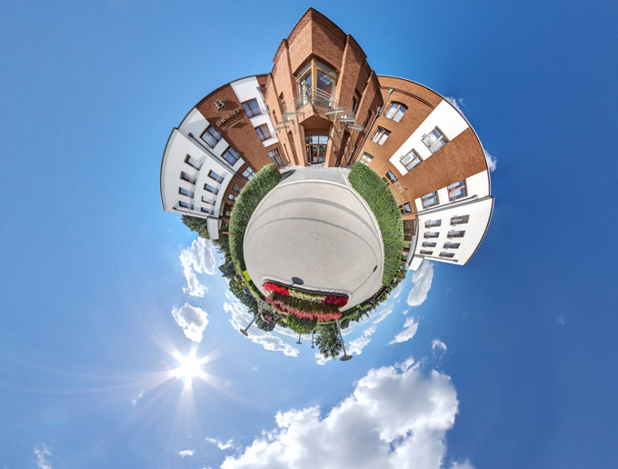 Widok Little PLanet Hotelu Brant
